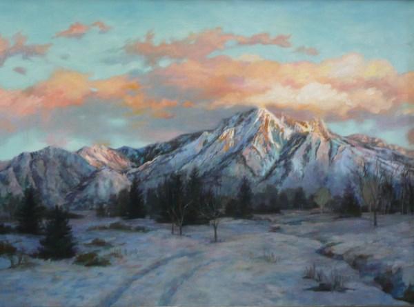"""""""Mt. Olympus in February"""" original fine art by Susan N Jarvis"""
