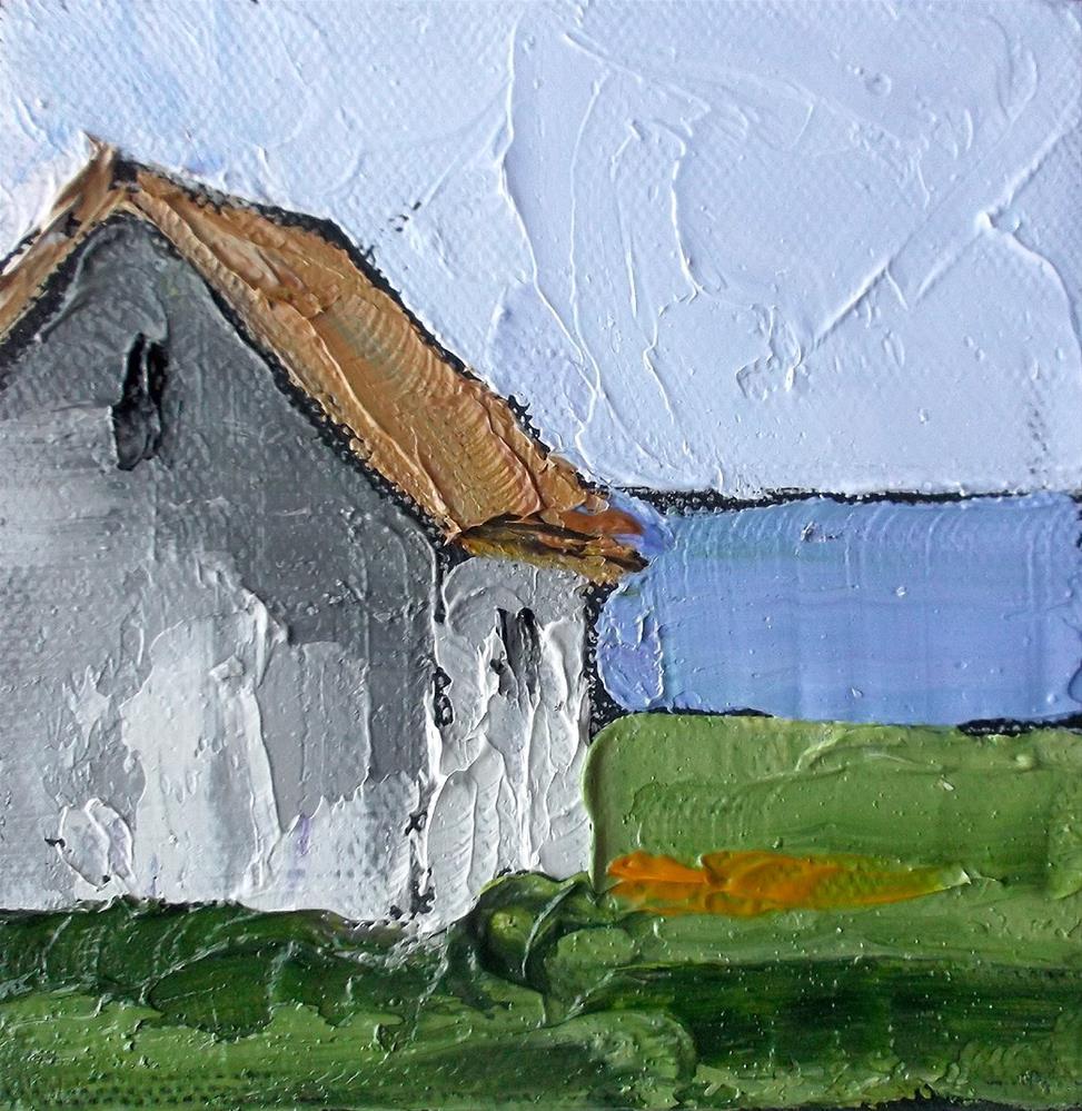 """""""North Coast Farm House Miniature"""" original fine art by lynne french"""