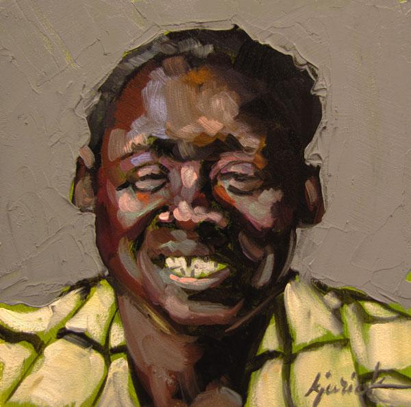 """100 Faces, No. 100"" original fine art by Karin Jurick"