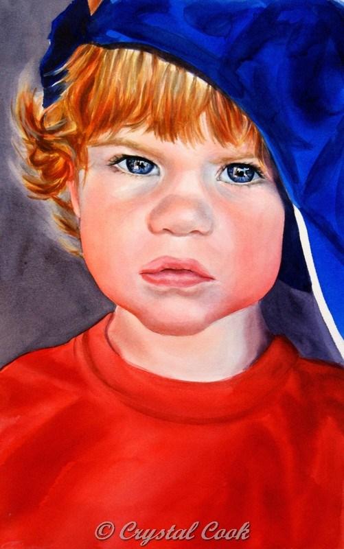 """Miles"" original fine art by Crystal Cook"
