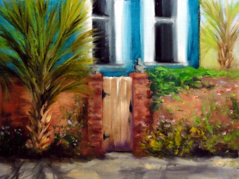 """""""New Orleans Garden District Gate Plein Air"""" original fine art by Dalan Wells"""