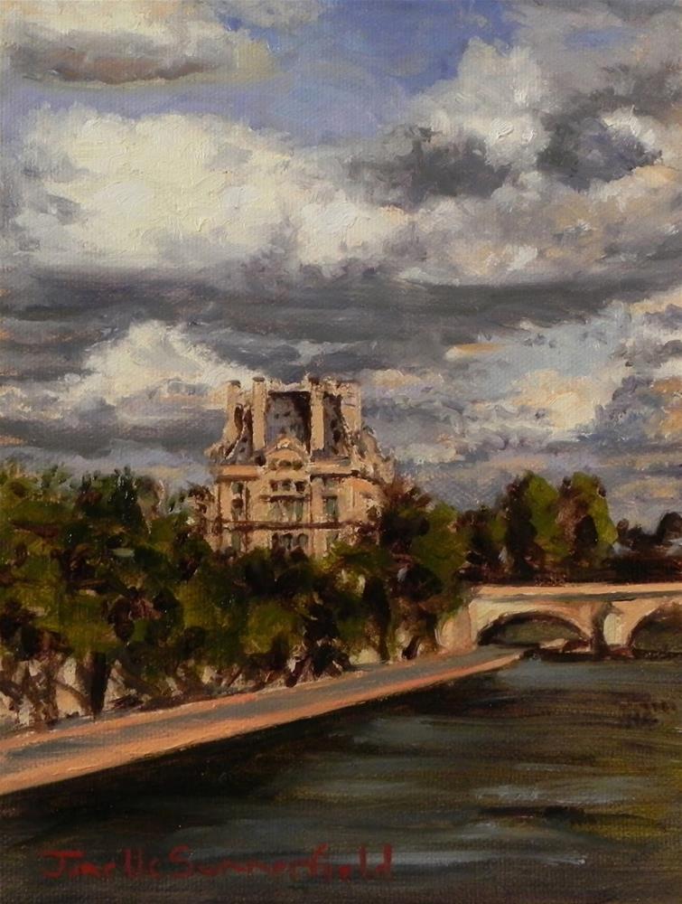 """Cloudy Day in Paris Study"" original fine art by Jonelle Summerfield"