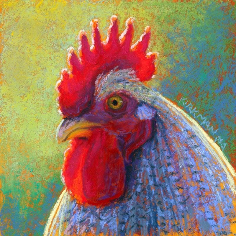 """Red"" original fine art by Rita Kirkman"
