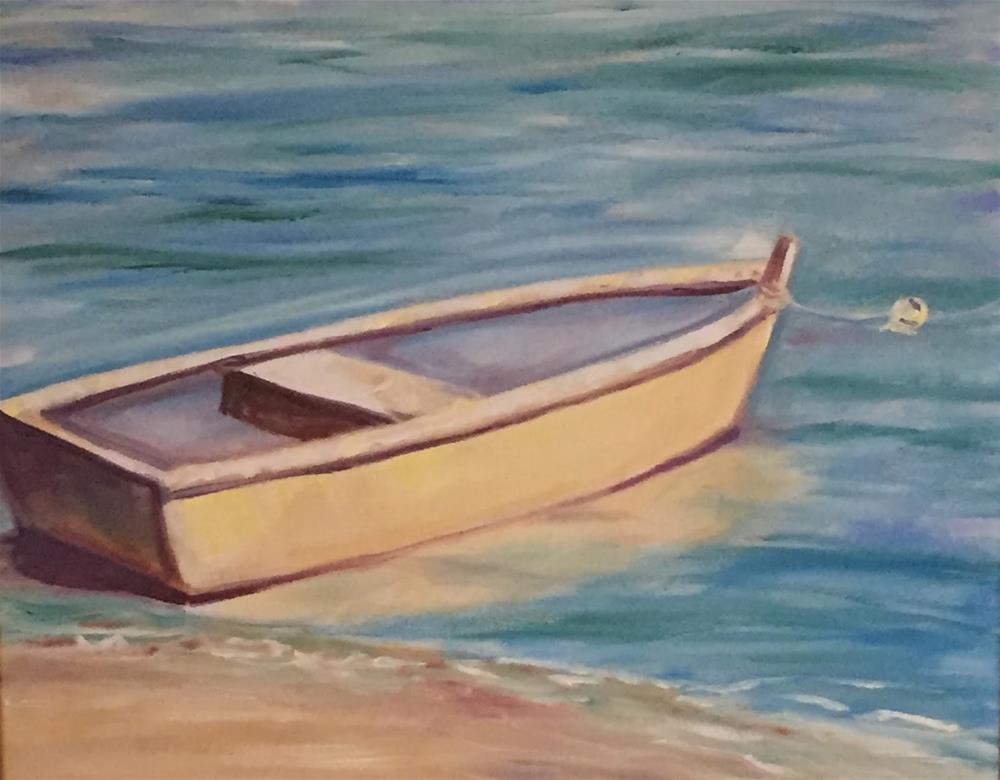 """By the Sea"" original fine art by Gayle Lambeth"