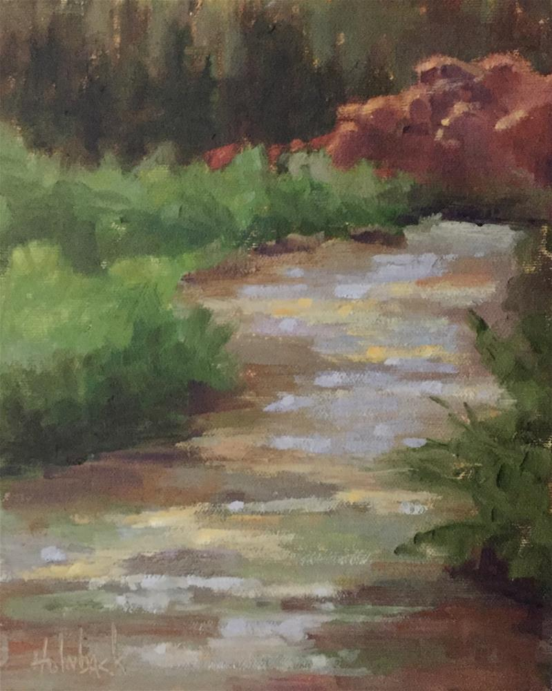 """""""Curving Waters"""" original fine art by Pam Holnback"""