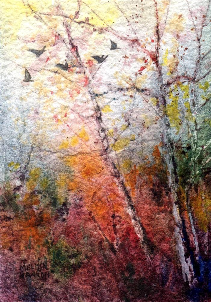 """Flying Through the Colors"" original fine art by Melissa Gannon"