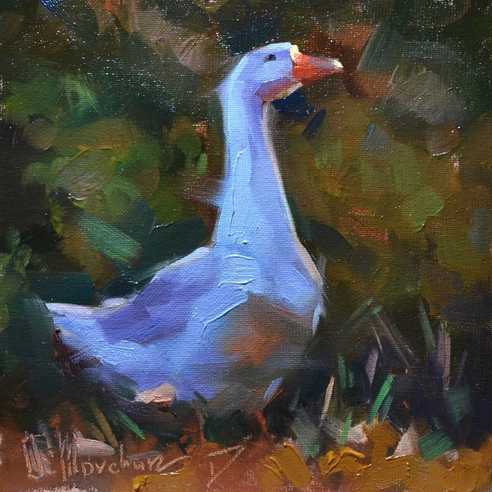 """Goose"" original fine art by Oleksii Movchun"