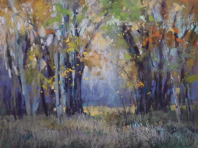 """Simplifying a Complicated Landscape"" original fine art by Karen Margulis"