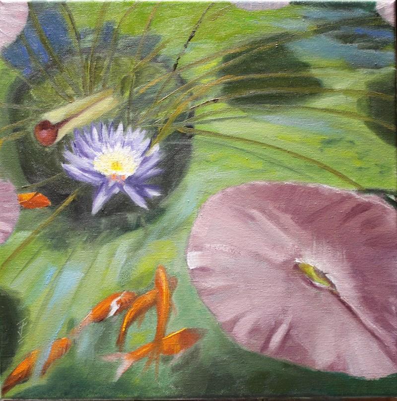 """""""Koi Garden"""" original fine art by Jane Frederick"""