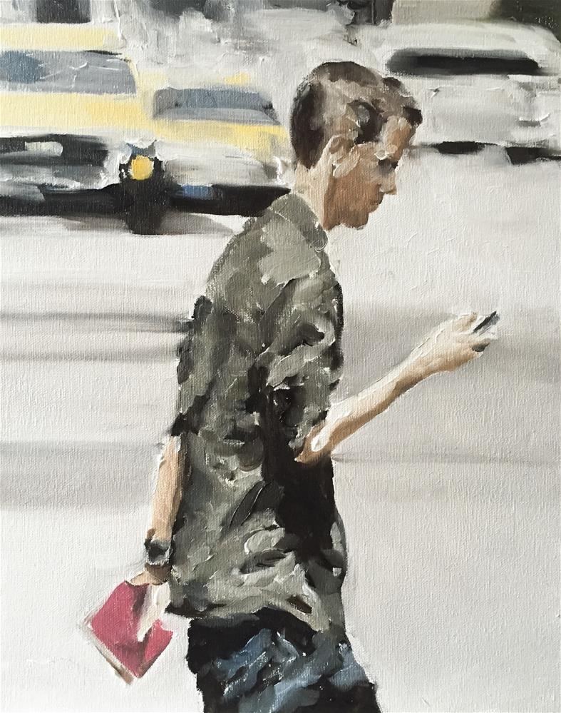 """The Texter"" original fine art by James Coates"