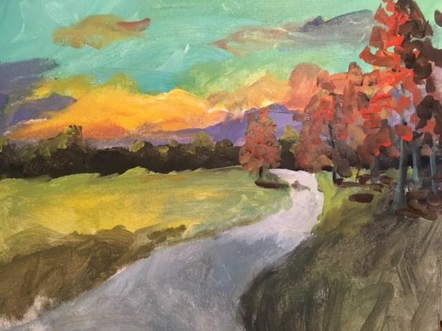 """Autumn Afternoon"" original fine art by Susan Elizabeth Jones"