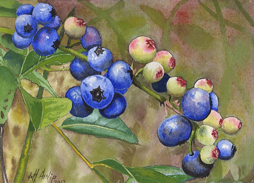 """Backyard Blues"" original fine art by Jeff Atnip"