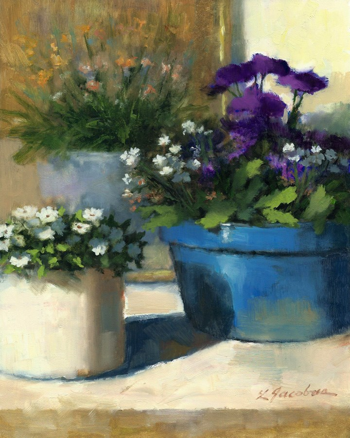 """Flowers"" original fine art by Linda Jacobus"