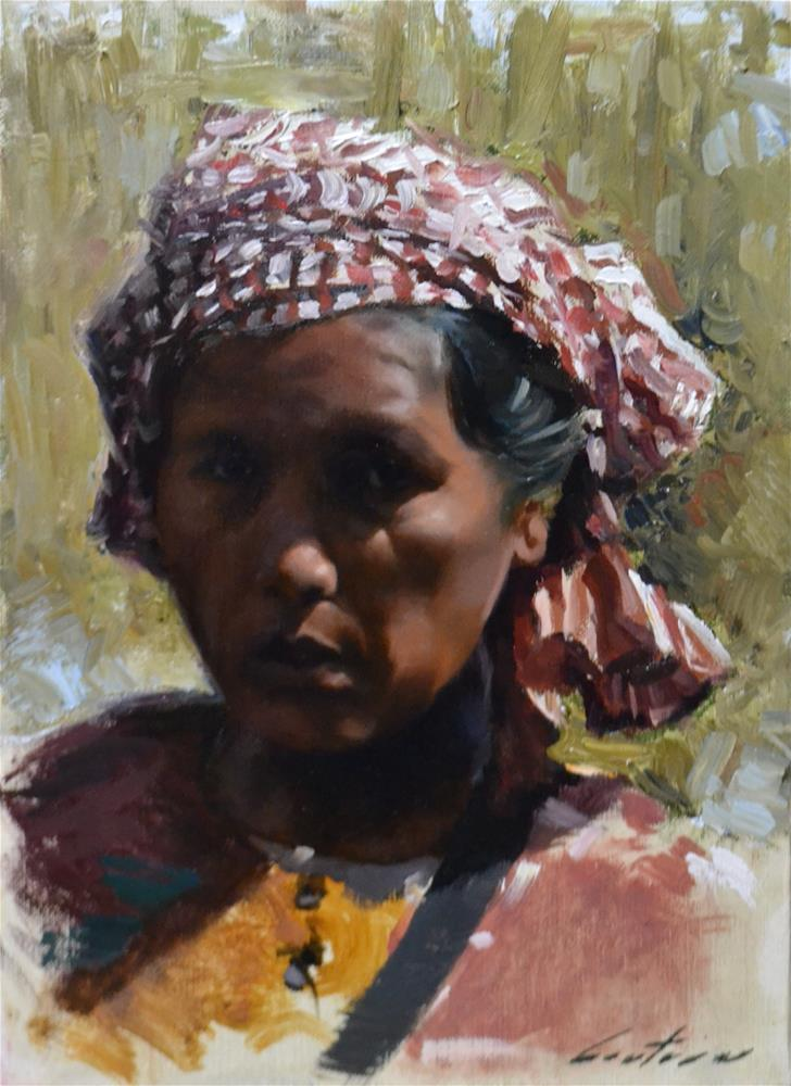 """Satrey Khmer"" original fine art by Phil Couture"