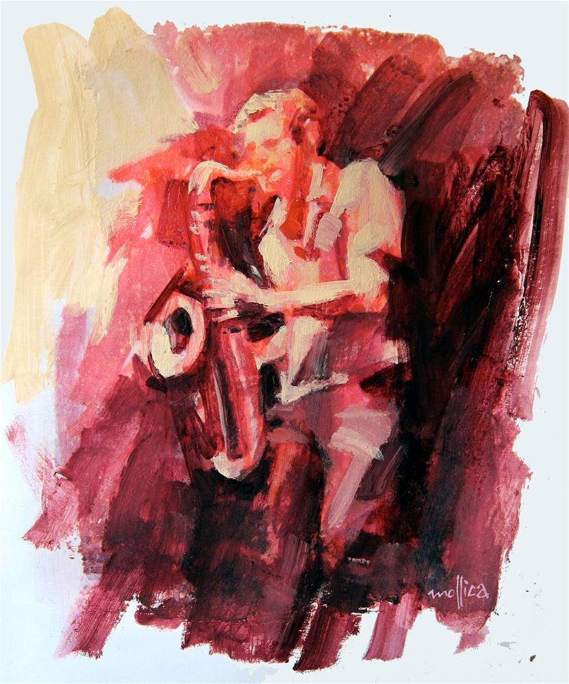 """Tenor Player"" original fine art by Patti Mollica"