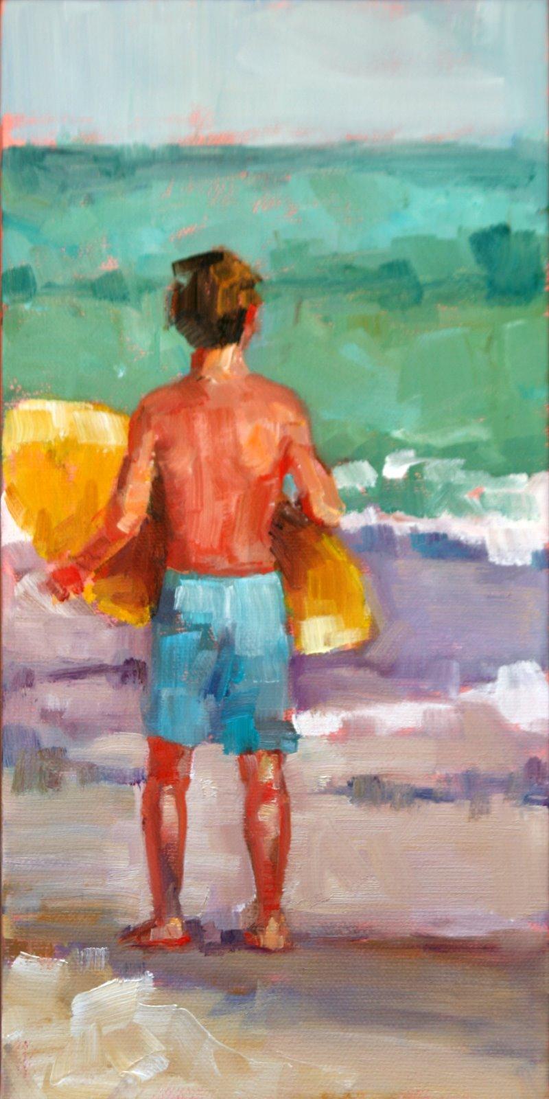 """waiting for the big one"" original fine art by Carol Carmichael"