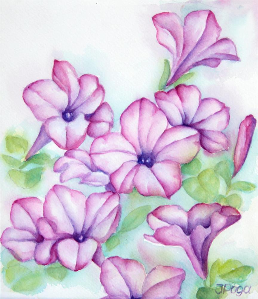 """""""Pink and purple"""" original fine art by Inese Poga"""