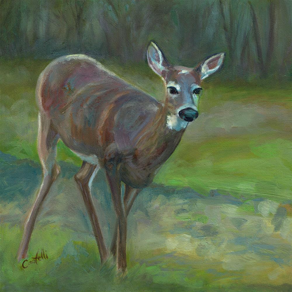 """Surprise Visitor"" original fine art by Anna Castelli"