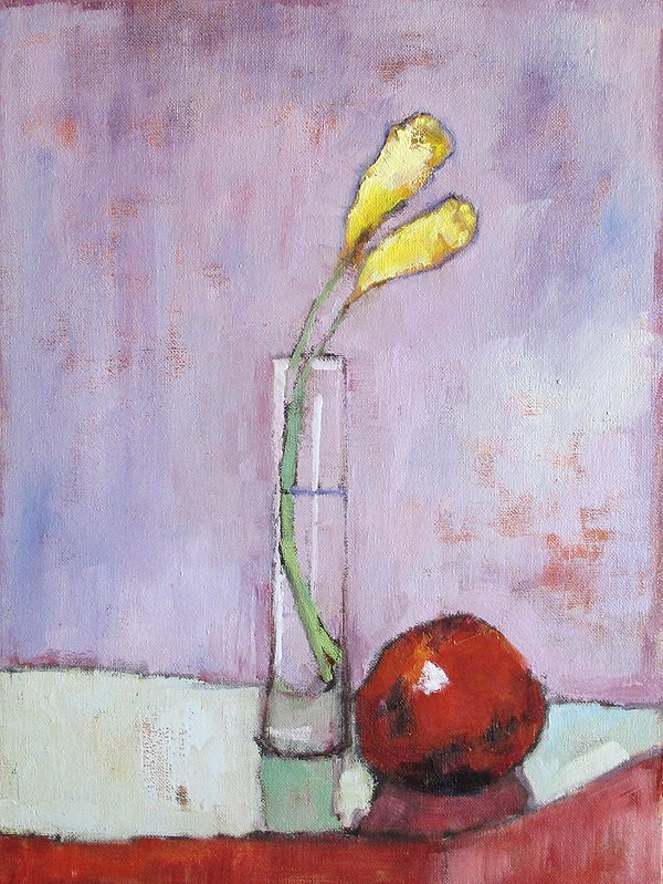 """Flowers and Fruit"" original fine art by Kevin Inman"
