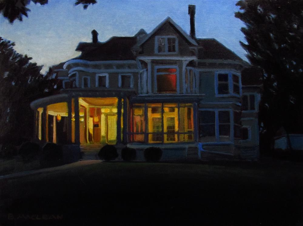 """Forest Avenue Home, Dusk"" original fine art by Brant MacLean"