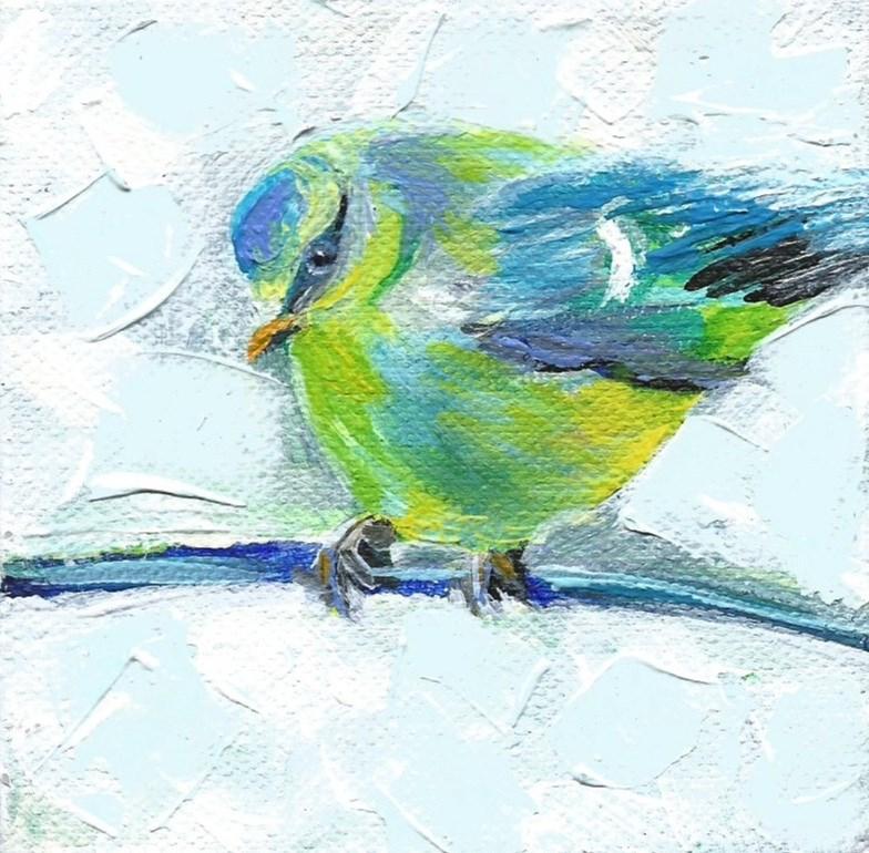 """5011 - Baby Blue II - Deep Wrap Canvas"" original fine art by Sea Dean"