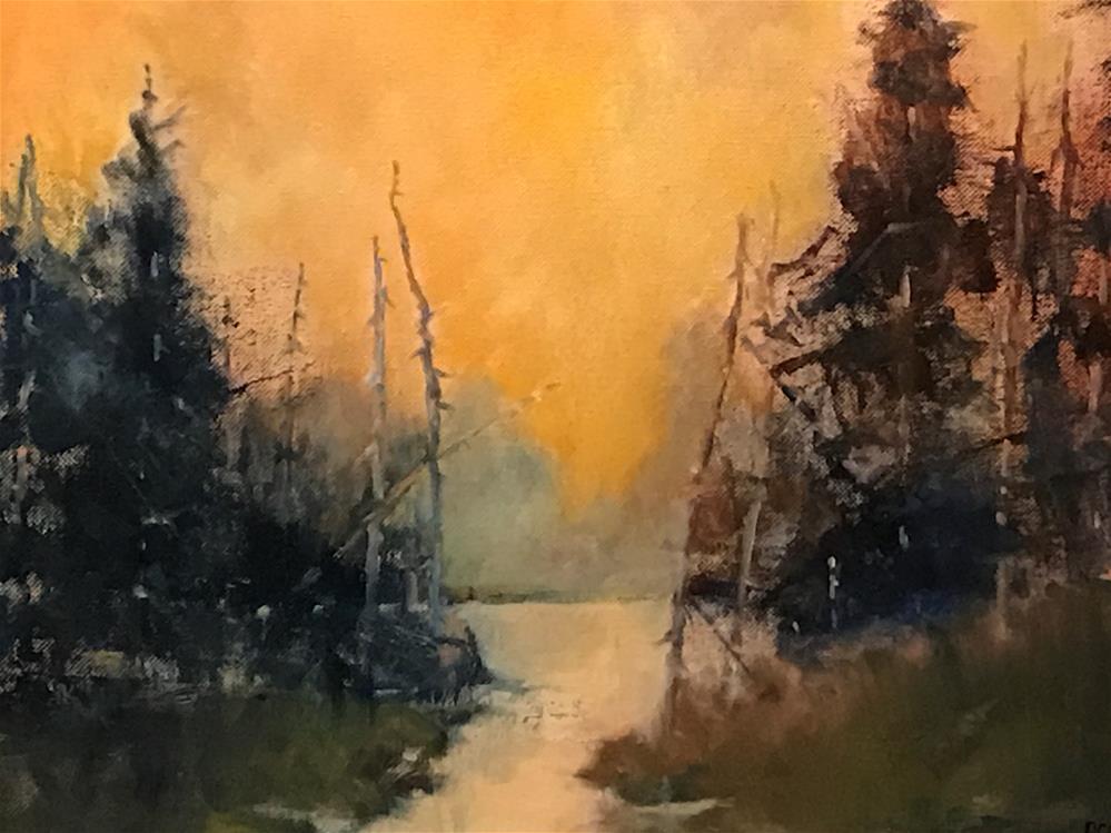 """almost night"" original fine art by Betty Argiros"