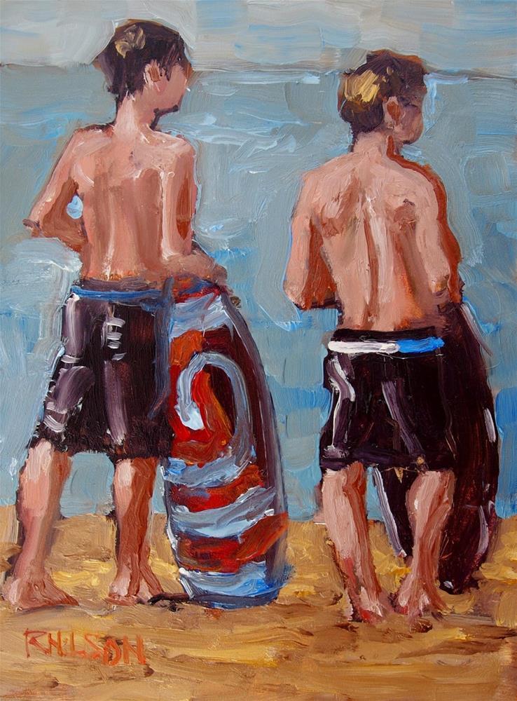 """""""Boarders"""" original fine art by Rick Nilson"""