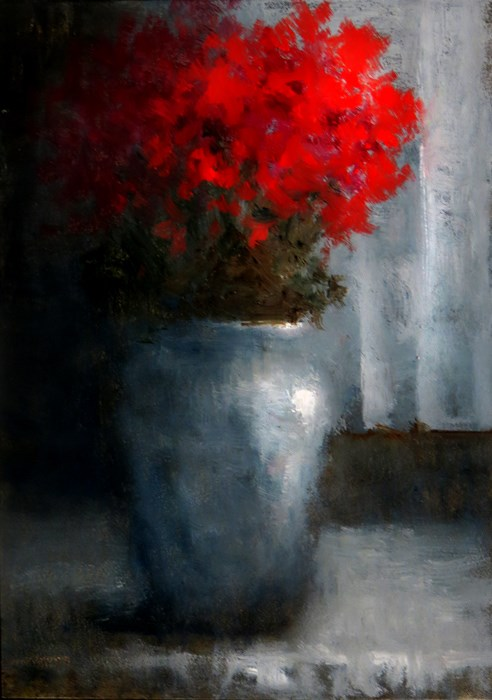 """Red Roses"" original fine art by Bob Kimball"