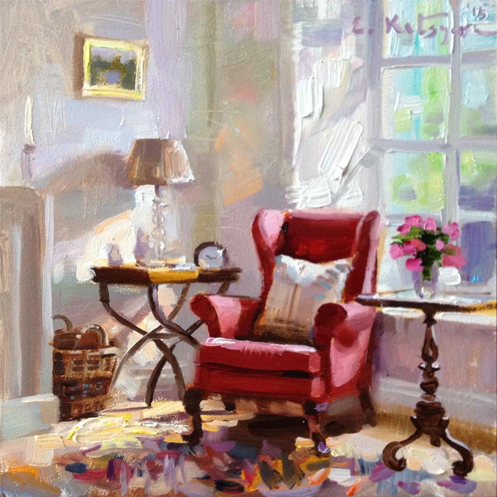 """""""By The Window"""" original fine art by Elena Katsyura"""