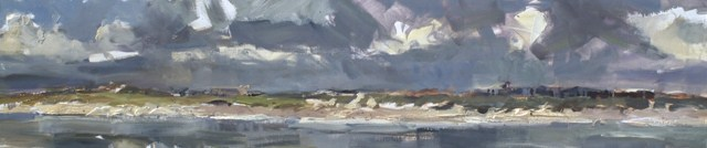 """Roos Schuring Seascape spring # 14 250x50 cm"" original fine art by Roos Schuring"