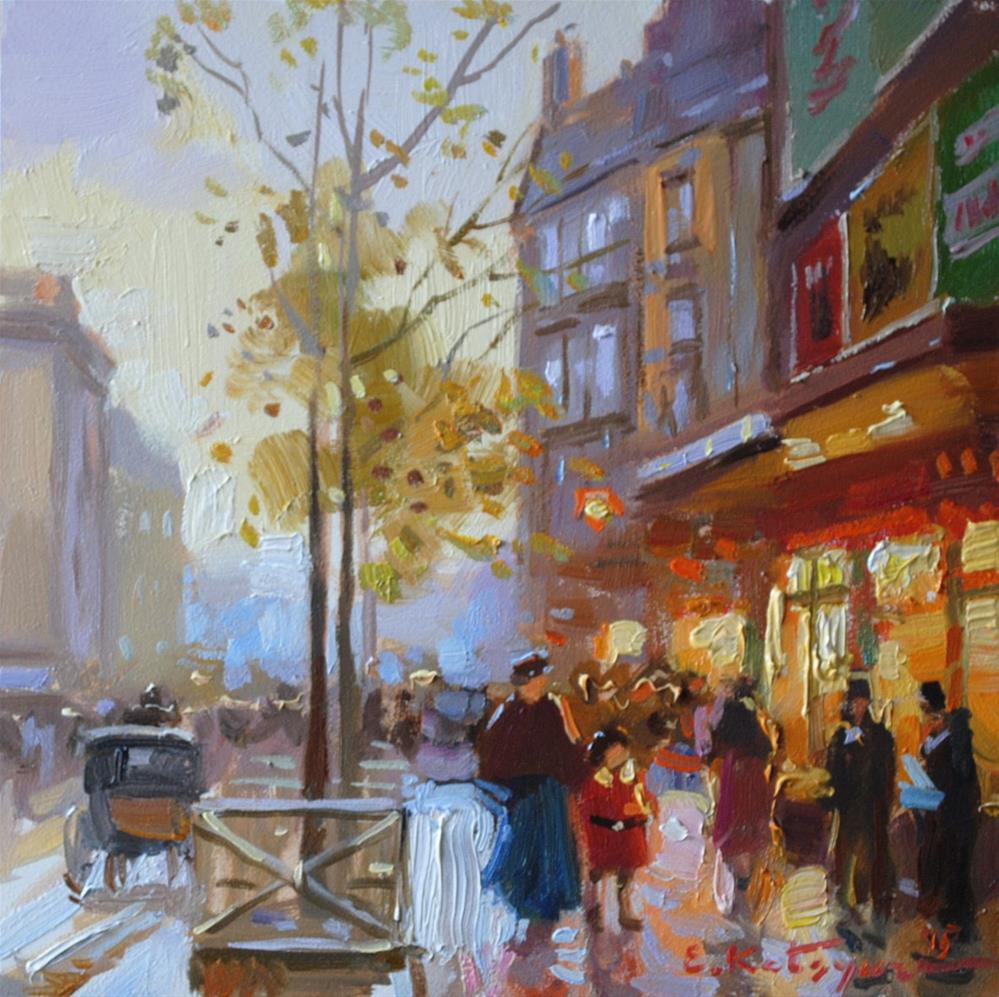 """Busy Street"" original fine art by Elena Katsyura"