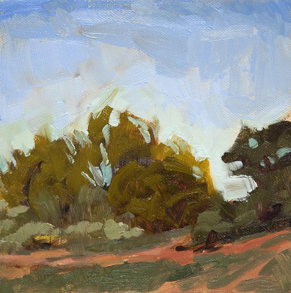 """Monica Lucero Park II"" original fine art by Miriam Hill"