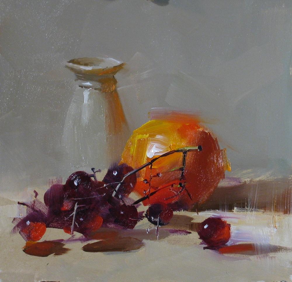 """Fire Ball"" original fine art by Qiang Huang"
