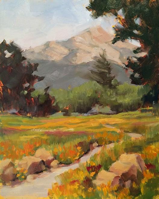 """Winding Path"" original fine art by Deborah Newman"