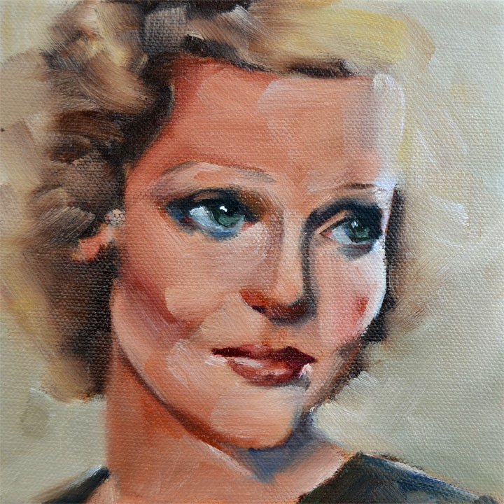 """Loretta"" original fine art by Cheryl Wilson"