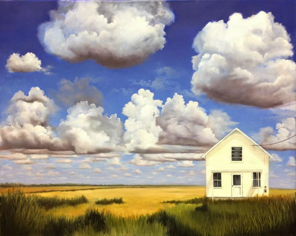 """Clouds Over Sweetlake"" original fine art by Beth Moreau"