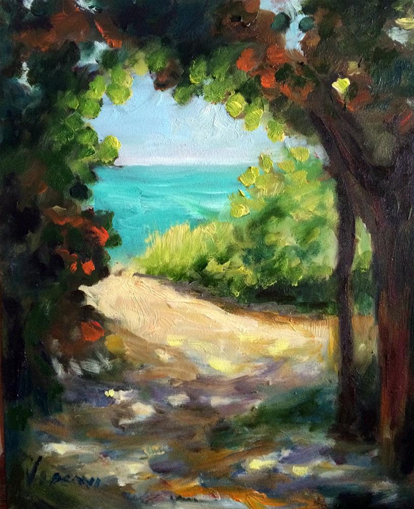 """Path to Delray Beach 2"" original fine art by Valerie Vescovi"