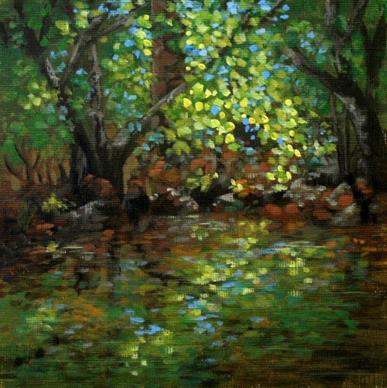 """Summer Serenity"" original fine art by Jean Nelson"