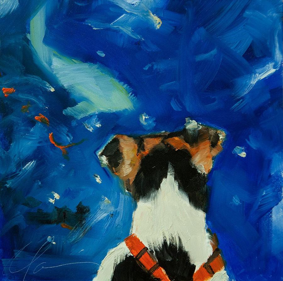 """Koi Pond"" original fine art by Clair Hartmann"