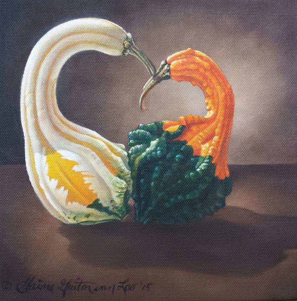 """Gourd Study #2"" original fine art by Elaine Guitar van Loo"