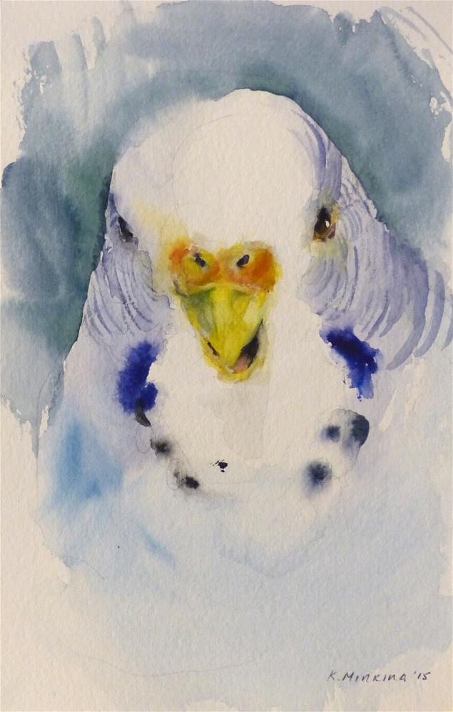 """budgie3"" original fine art by Katya Minkina"