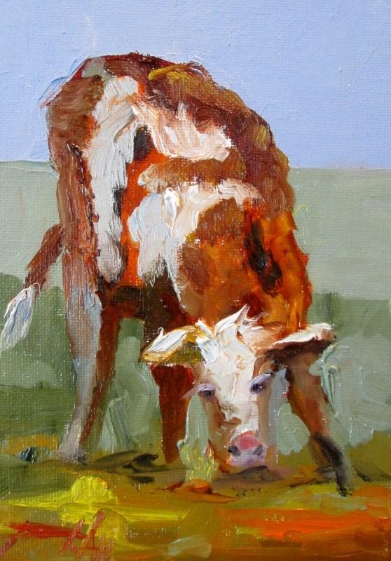 """""""Calf"""" original fine art by Delilah Smith"""
