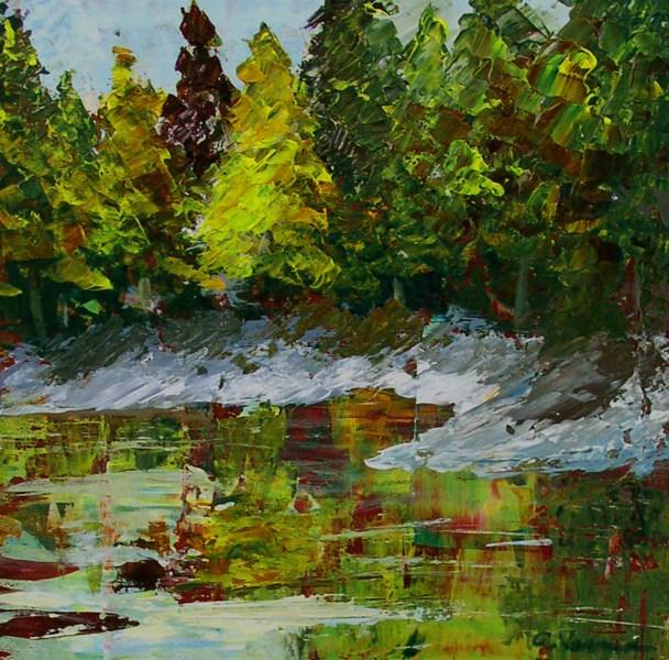 """Spruce Reflections"" original fine art by Anna Vreman"