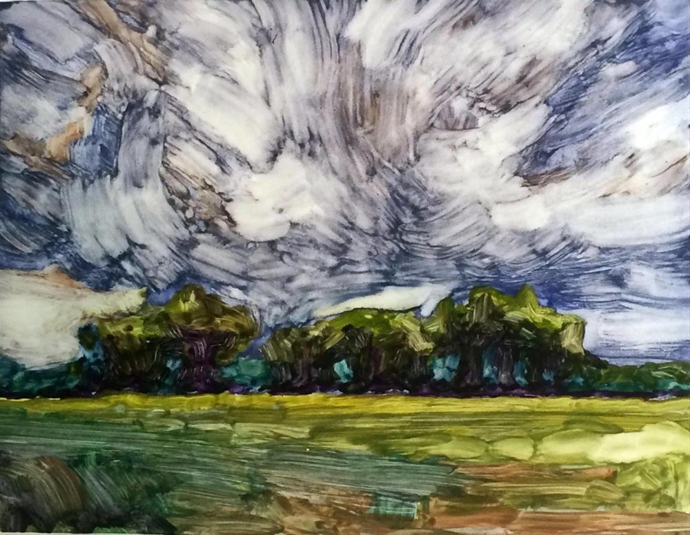 """""""Storm Over the Grove"""" original fine art by Mary Gilkerson"""