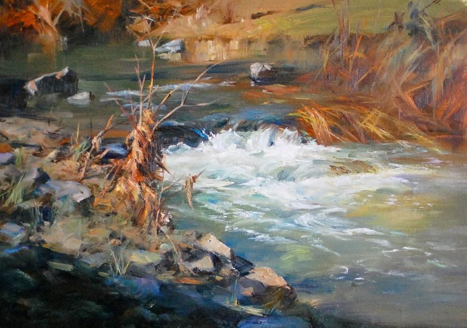 """River Series #2"" original fine art by Kelvin Lei"