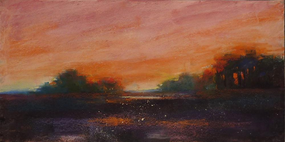 """Lowcountry Sunset...Getting that Sunset Glow"" original fine art by Karen Margulis"