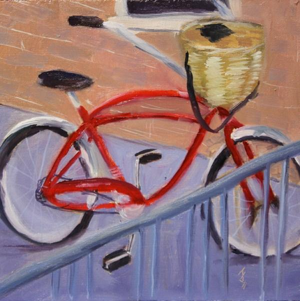 """Red Cruiser"" original fine art by Jane Frederick"