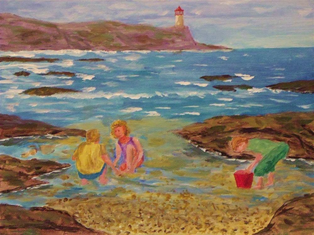 """""""Beach Fun"""" original fine art by Mike Caitham"""