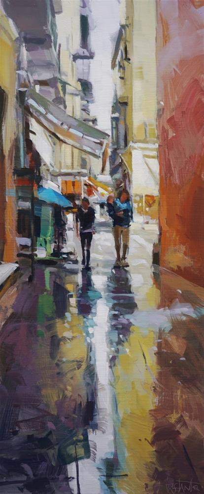 """""""Unexpected rain"""" original fine art by Víctor Tristante"""