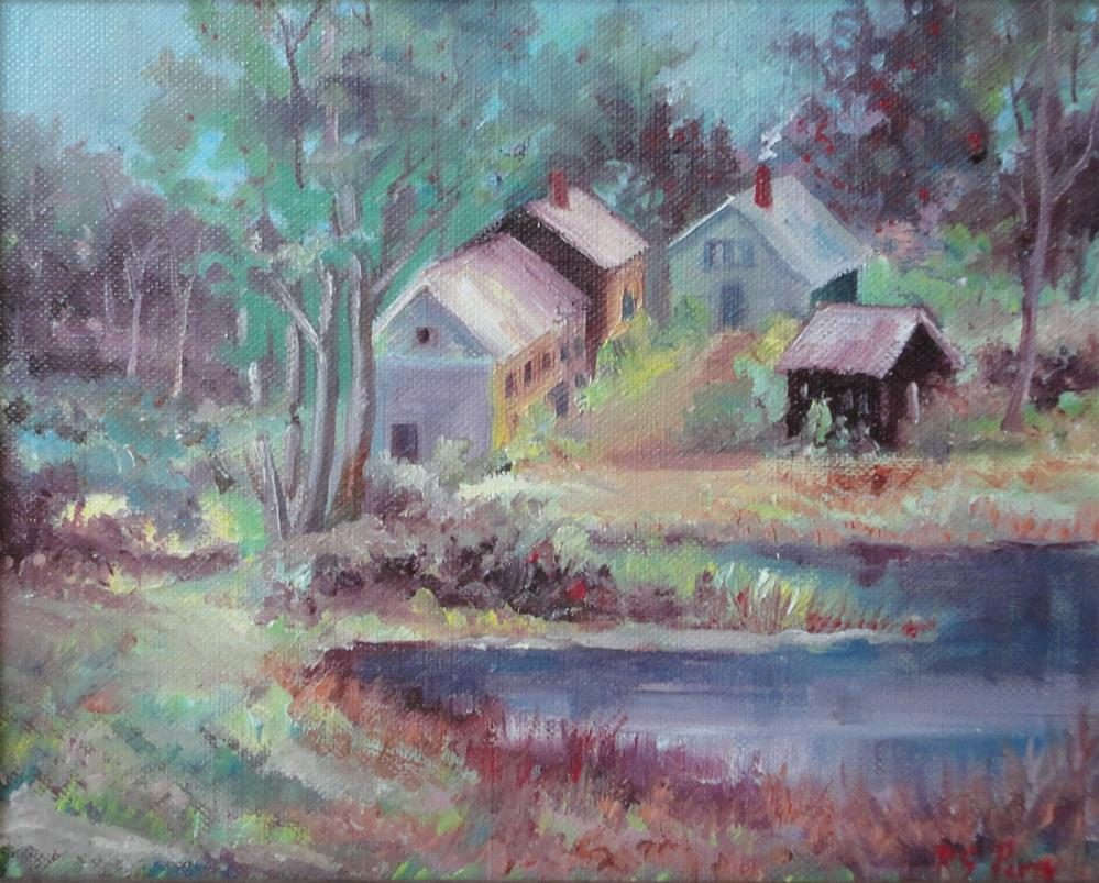 """""""Country houses in Arkansas """" original fine art by R. S. Perry"""
